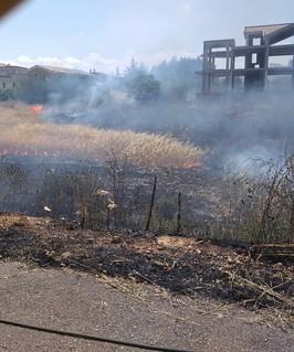 Incendio via Lidl giugno 2018