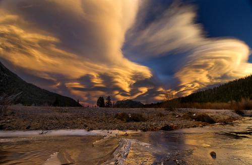 sunset sky fall nature evening rmnp clouds