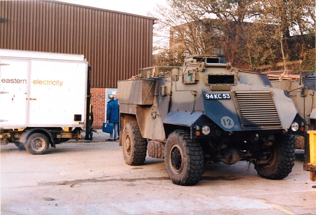 Ipswich Depot, Fore Hamlet, Armoured Personnel Carrier, October 1987.