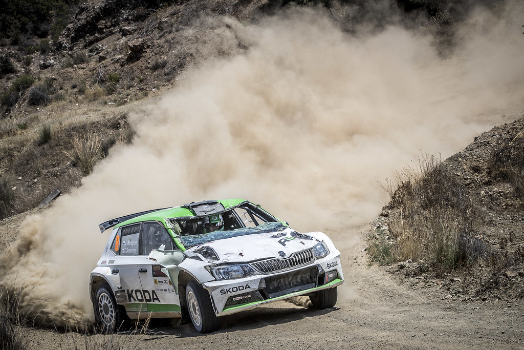 08 NORDGREN Juuso (FIN), SUOMINEN Tapio (FIN), JUUSO NORDGREN, SKODA FABIA R5, action during the 2018 European Rally Championship ERC Cyprus Rally,  from june 15 to 17  at Larnaca, Cyprus - Photo Gregory Lenormand / DPPI