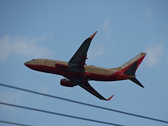 Southwest Airlines classic 737 N714CB taking off from Midway Airport s