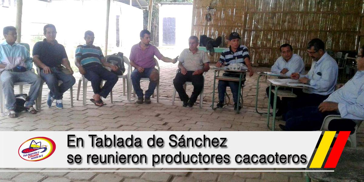 En Tablada de Sánchez se reunieron productores cacaoteros