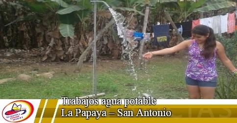 Trabajos agua potable La Papaya - San Antonio