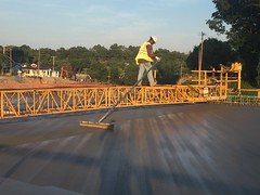Peters Creek Parkway Bridge Pouring on Business 40 (U.S. 421 Salem Parkway) Project