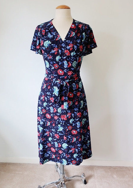 eve wrap dress front on form