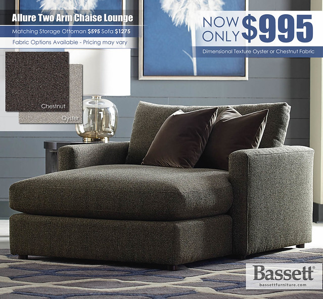 Allure Two Arm Chaise Lounge