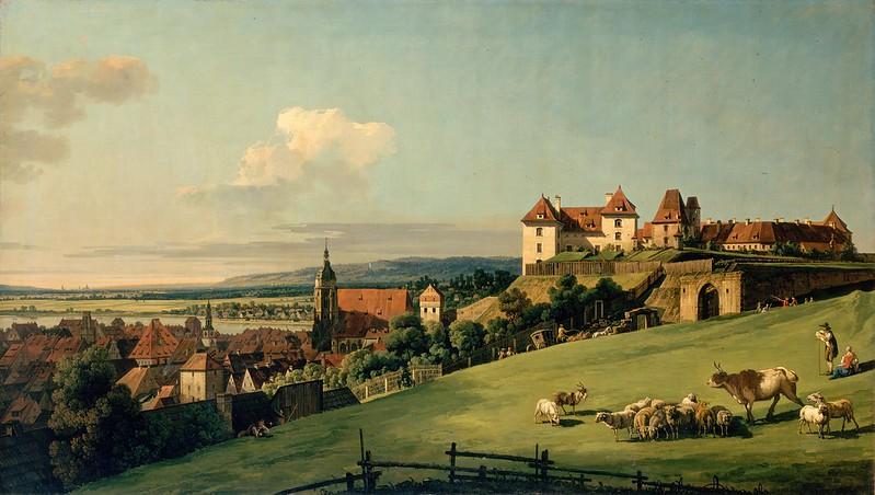 Bernardo Bellotto - View of Pirna from the Sonnenstein Castle (c.1750)