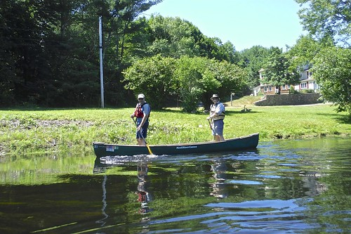 Erik and Jonathan above the Burdickville Dam