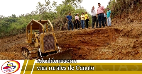 Alcalde recorre vías rurales de Canuto