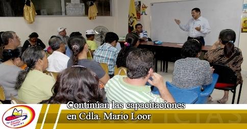 Continúan las capacitaciones en Cdla. Mario Loor