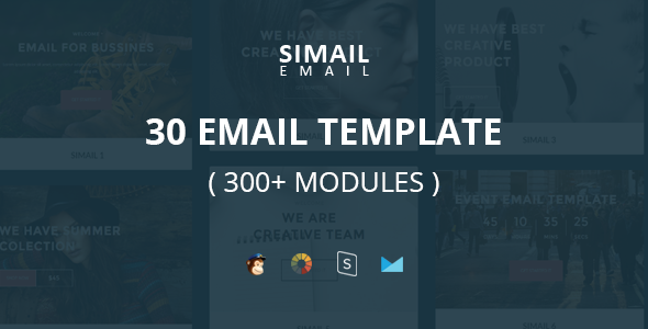 SIMAIL v1.0 - 30 Email Template (300 Modules) and Stampready Builder