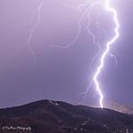 17. Juuli 2018 - 21:36 - Lightning over 'P' mountain in Prescott, 7/17/18