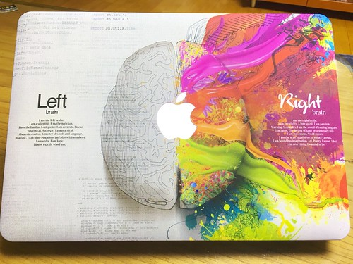 KEC MacBook Pro Retina 13 Inch Case (2015 old gen.) Plastic Hard Shell Cover (Brain)
