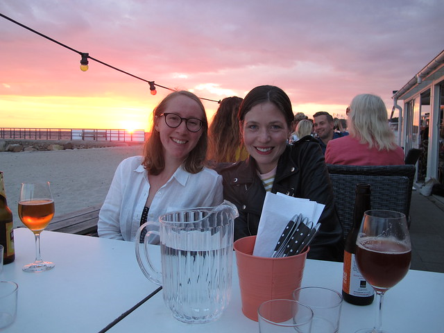 saturday, with kärntruppen, dinner at barfota beach restaurant, helsingborg