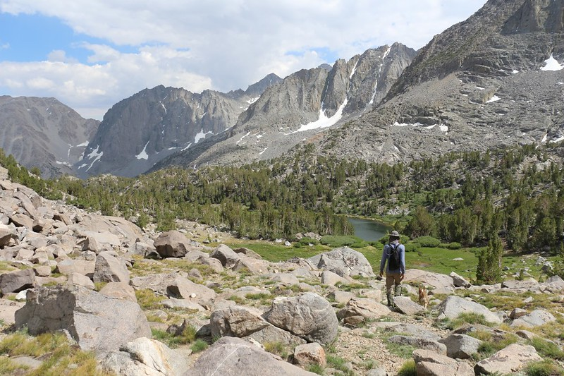 Seventh Lake is in front of us - one last night to spend here in the Big Pine Lakes basin