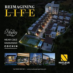 Relaxation, fun, and luxury, Nucleus Heyday's trendsetting villas and apartments promise all that and more, in a completely relaxed atmosphere amid the thriving IT hub of Kakkanad. Visit us at www.nucleusproperties.com to know more.... #Kerala #Kochi