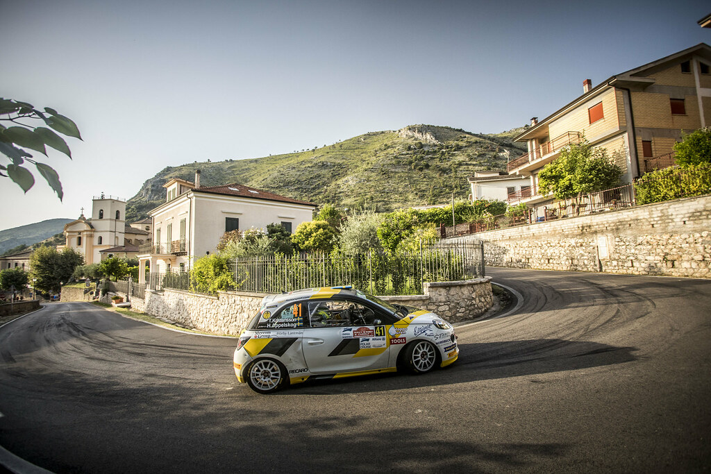 41 KRISTENSSON Tom (swe), APPELSKOG Henrik (swe), opel adam , action during the 2018 European Rally Championship ERC Rally di Roma Capitale,  from july 20 to 22 , at Fiuggi, Italia - Photo Gregory Lenormand / DPPI