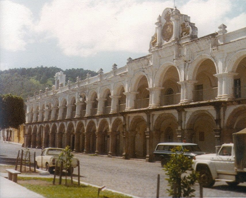 Government Palace, on main square, Antigua Guatemala. Photo by Infrogmation, 1979.
