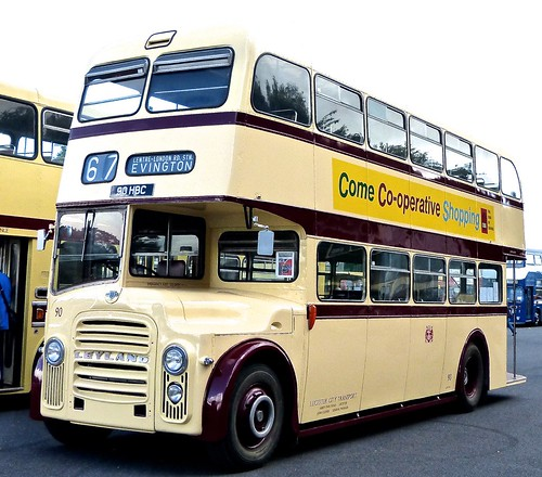90 HBC 'Leicester City Transport' No. 90. Leyland PD3A/1 / East Lancs. on 'Dennis Basford's railsroadsrunways.blogspot.co.uk'