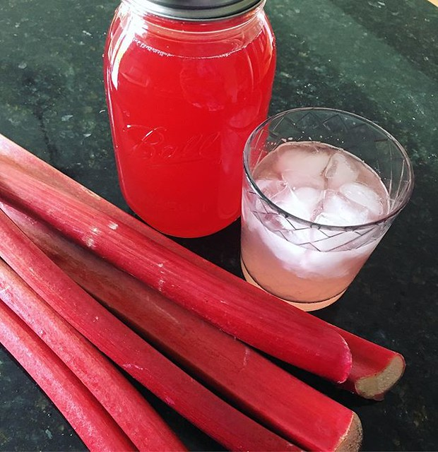 #rhubarb simple syrup. 💗🍹💗
