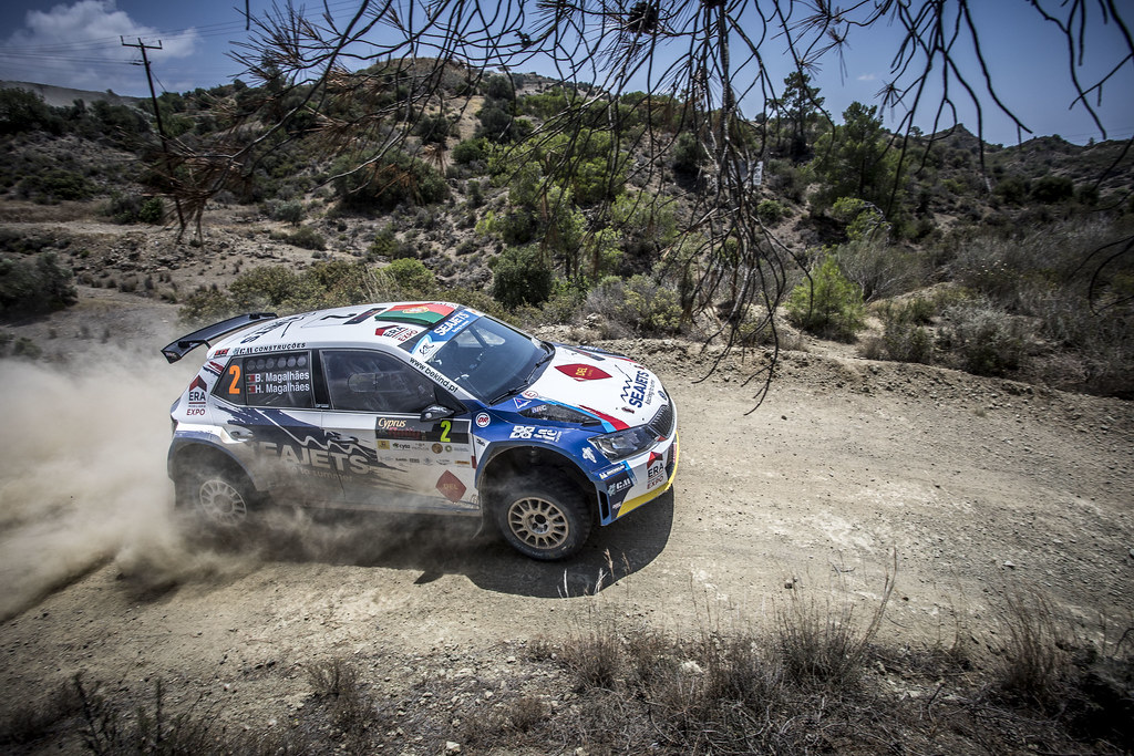 02 MAGALHAES Bruno (PRT), MAGALHAES, Hugo (PRT), BRUNO MIGUEL PINTO MAGALHAES PINHEIRO, SKODA FABIA R5, action during the 2018 European Rally Championship ERC Cyprus Rally,  from june 15 to 17  at Larnaca, Cyprus - Photo Gregory Lenormand / DPPI