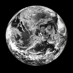 Amazing image of the Earth. Original from NASA. Digitally enhanced by rawpixel.
