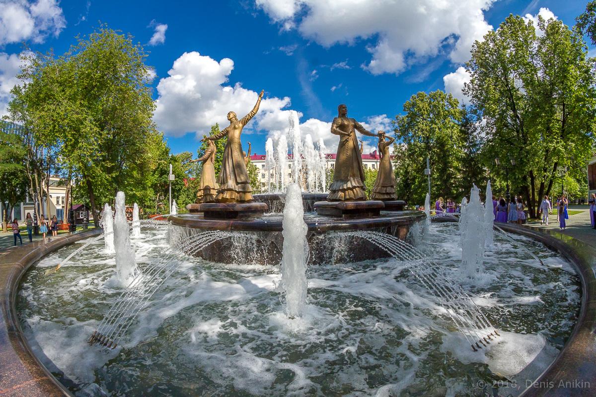 фонтан Семь девушек Уфа фото 6