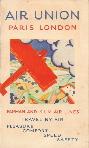 The 1925 Air Union UK Leaflet, first cover