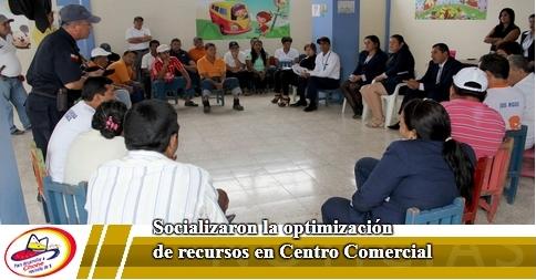 Socializaron la optimización de recursos en Centro Comercial