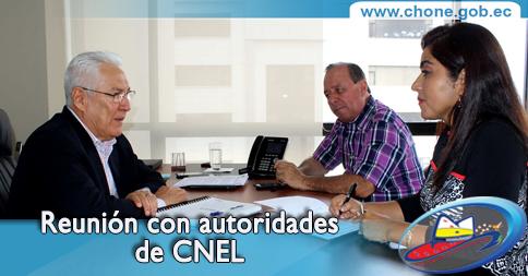 Reunión con autoridades de CNEL