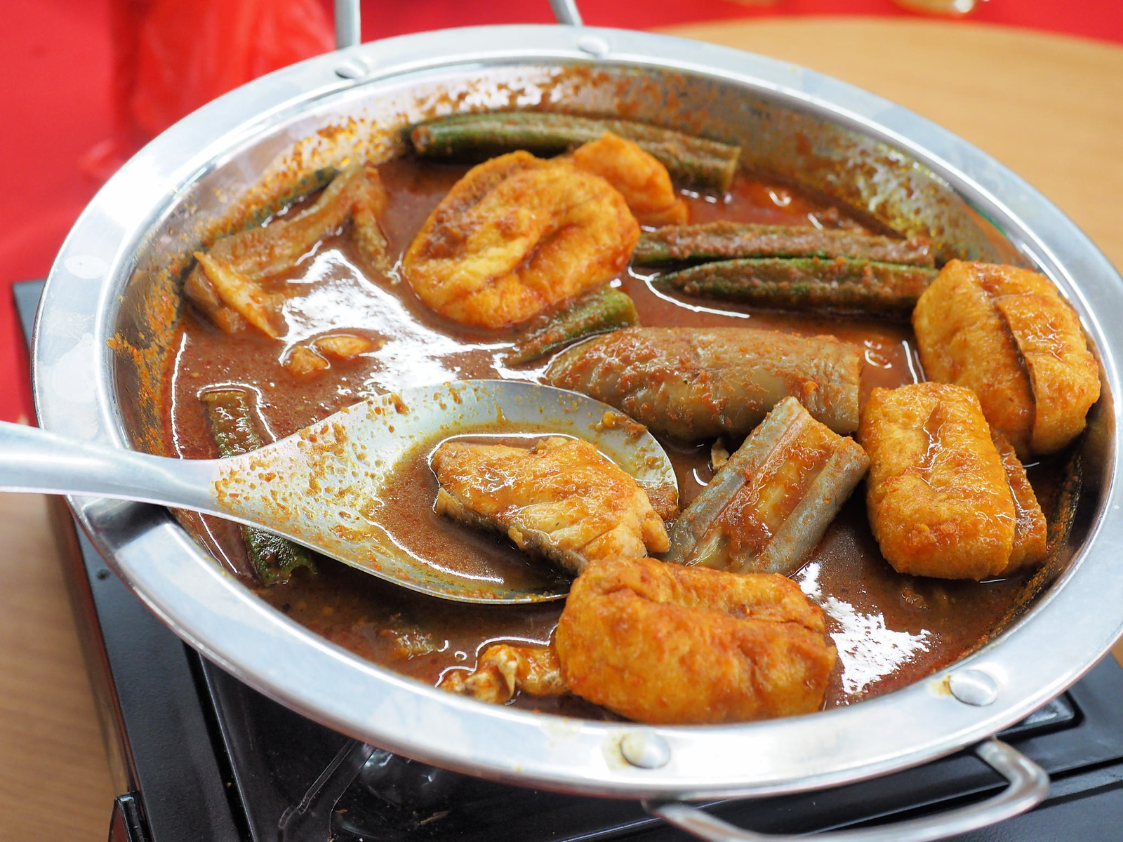 curry fish head at Pangkor Village Seafood, Taman Megah