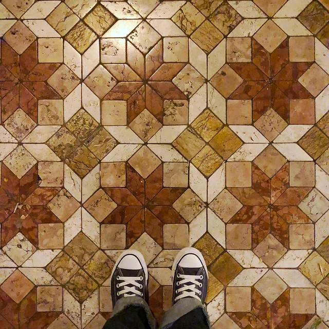 Because there is no such thing as too many shoe pictures. How awesome is that tiled floor, though? 😍