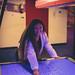 Having fun at the arcade