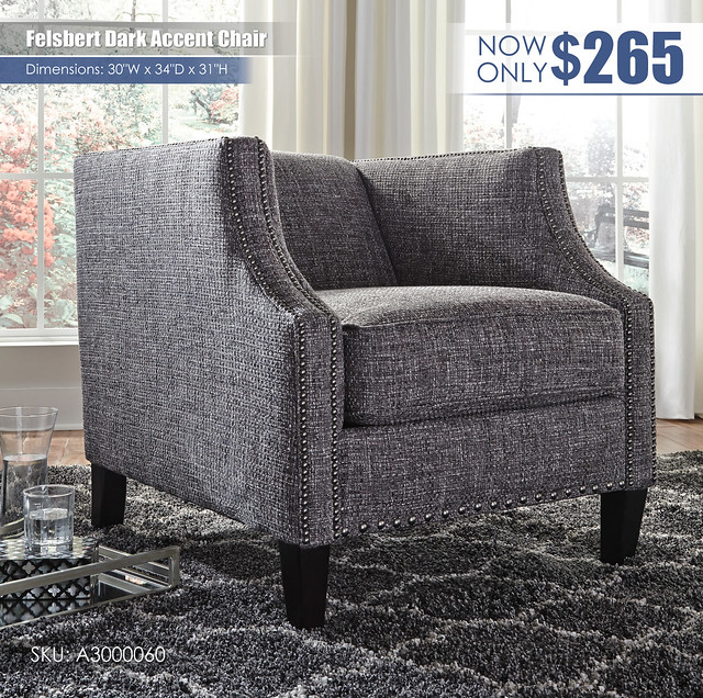 Felsbert Dark Accent Chair_A3000060