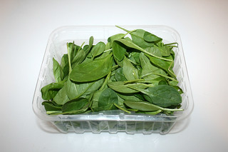 02 - Zutat Blattspinat / Ingredient leaf spinach
