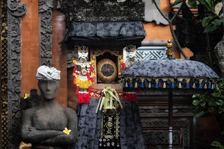 Outside a Balinese house, Ubud
