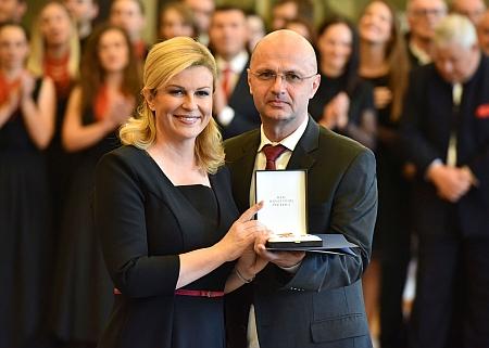 Predsjednica i dr. sc. Slaven Bacic, Vojvodina