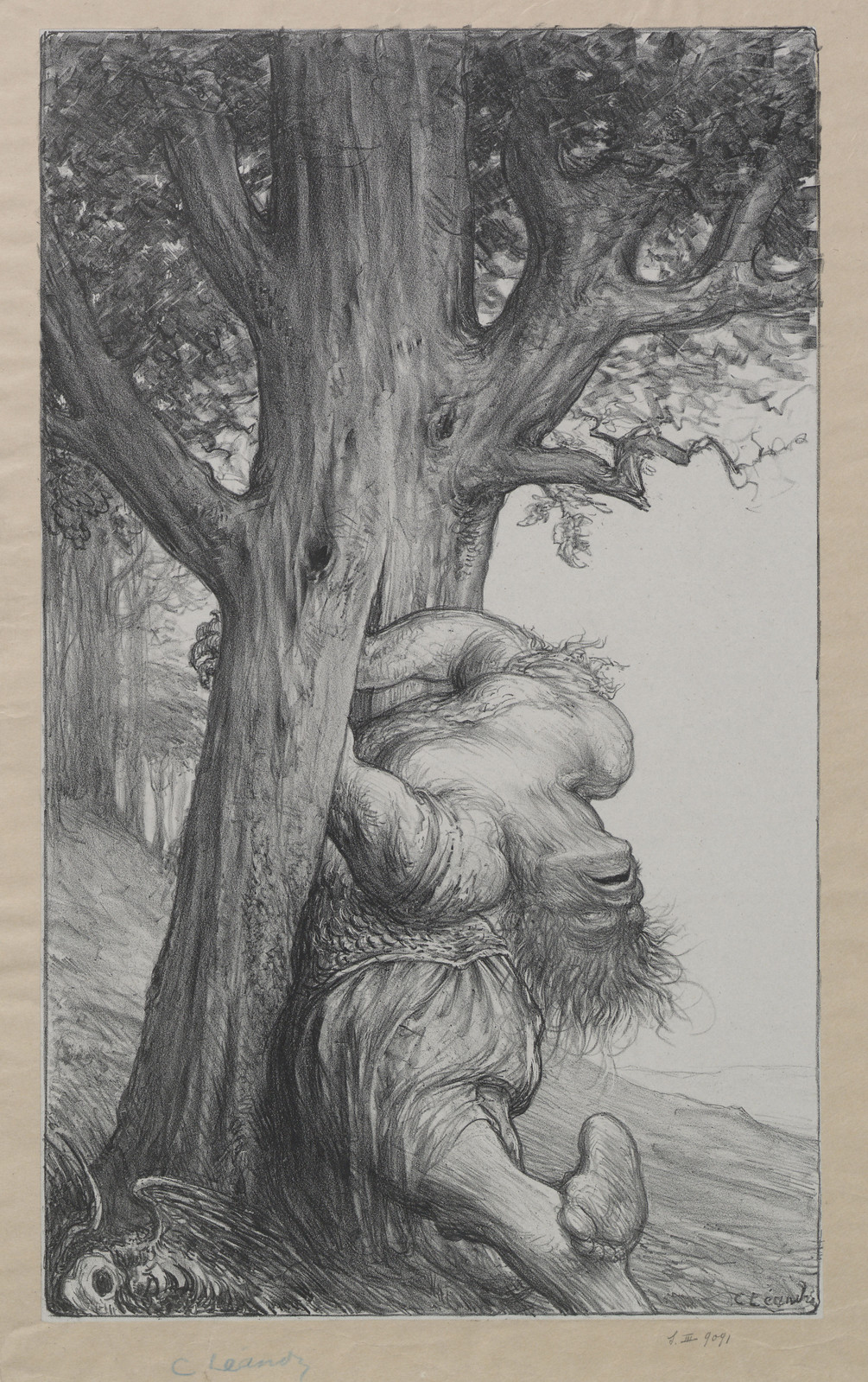 Charles Lucien Leandre - Vanquished The Old Gallic Oak, 1914-18