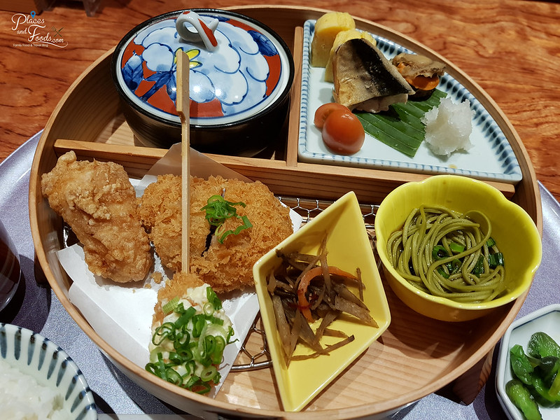 tonkatsu anzu service lunch set dish
