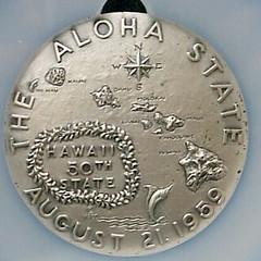 Silver Hawaii Statehood medal NII HAU