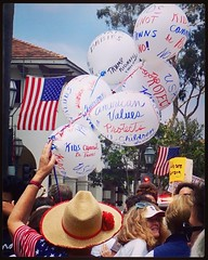 Over 2500 people participated in the Families Belong Together march in downtown Santa Barbara on Saturday June 30th, 2018. #FamiliesBelongTogether, #KeepFamiliesTogether, #SantaBarbara, #California, #StopFamilyDetention