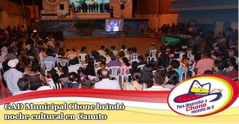 GAD Municipal Chone brindó noche cultural en Canuto