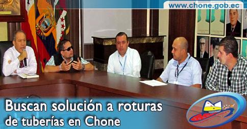 Buscan solución a roturas de tuberías en Chone