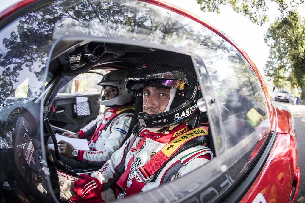 ASTIER Raphael (fra), VAUCLARE Frederic (fra), Abarth 124 Rally, portrait during the 2018 European Rally Championship ERC Rally di Roma Capitale,  from july 20 to 22 , at Fiuggi, Italia - Photo Gregory Lenormand / DPPI