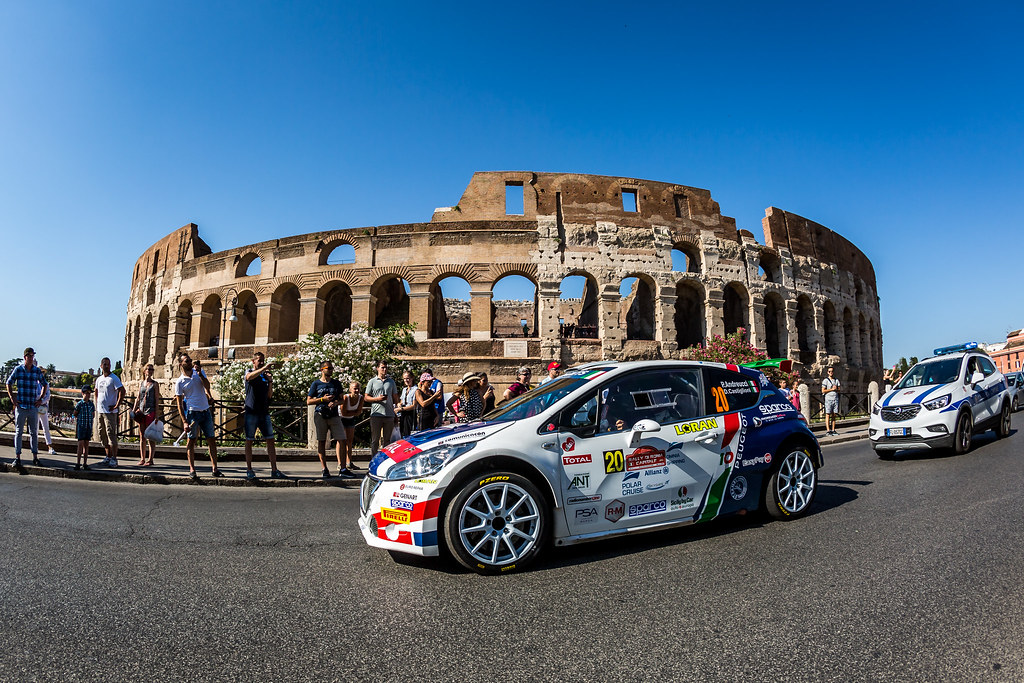 20 Paolo Andreucci (ITA), Anna Andreussi (ITA), F.P.F.Sport Srl, PEUGEOT 208 R5, action during the 2018 European Rally Championship ERC Rally di Roma Capitale,  from july 20 to 22 , at Fiuggi, Italia - Photo Thomas Fenetre / DPPI