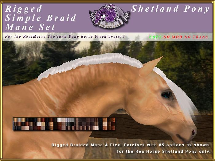 E-RH-Shetland-ManeSet-SimpleBraid - TeleportHub.com Live!