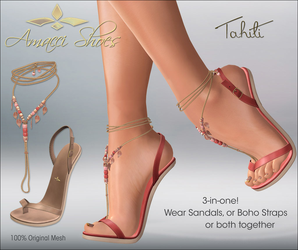 Amacci Tahiti Sandals / Boho Straps - TeleportHub.com Live!