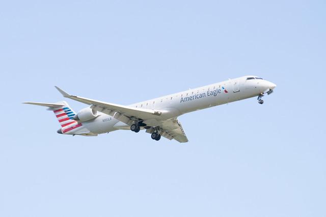 American Eagle Bombardier CRJ-900ER Landing at IAH 1806141726