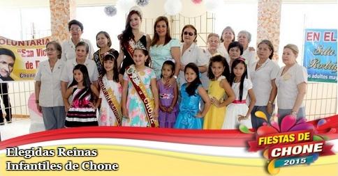 Elegidas Reinas Infantiles de Chone
