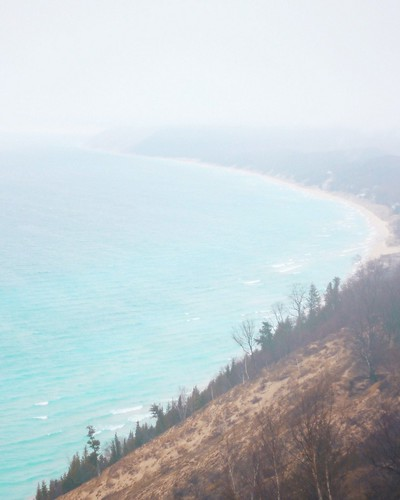 If you ever get the chance to venture along M-22, be sure the hike the Empire Bluffs trail, it won't disappoint, even if it's super foggy! Photographer Nic Sagodic